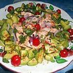 Avocado salade met zalm