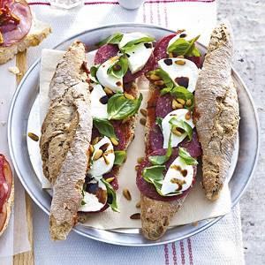 Broodje ossenworst-mozzarella