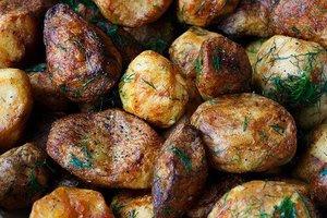 Aardappelen, peren en pekelvlees