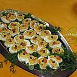 Gevulde eieren met gerookte zalm