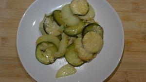 Gratin van courgette en aardappel