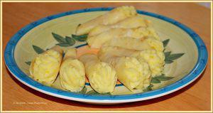 Rotolini con purè di patate e sedano rapa