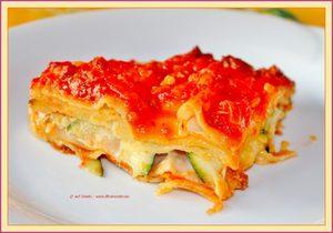 Traditionele lasagne met extra courgette