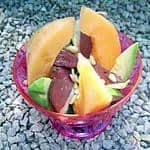 Meloen met gerookte eendenborst