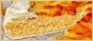 Tarta arancione di ricotta con marmellata