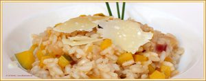 Risotto met gele courgette