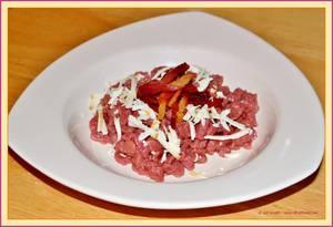 Spätzle-pasta met spekjes en gerookte ricotta