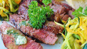 Biefstuk met pesto