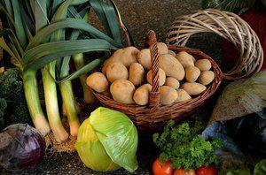 Aardappel groenten schotel