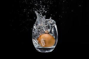 ei in het glas